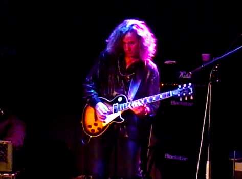 Jeffrey Walsh playing electric guitar live at Whisky A Go Go 11-12-13