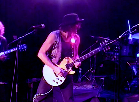Steven Bates playing electric guitar solo at The Whisky 11-12-13