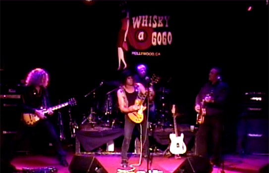 "Steven Bates Band playing ""New Clear Beach"" live at the Whisky 11-12-13"