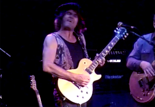 "Steven Bates rocking out on guitar during ""New World Blues"" live at The Whisky 11-12-13"