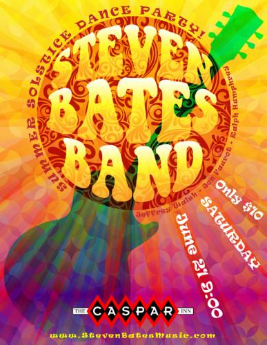 Steven Bates Band Caspar Inn Show 6-21-14