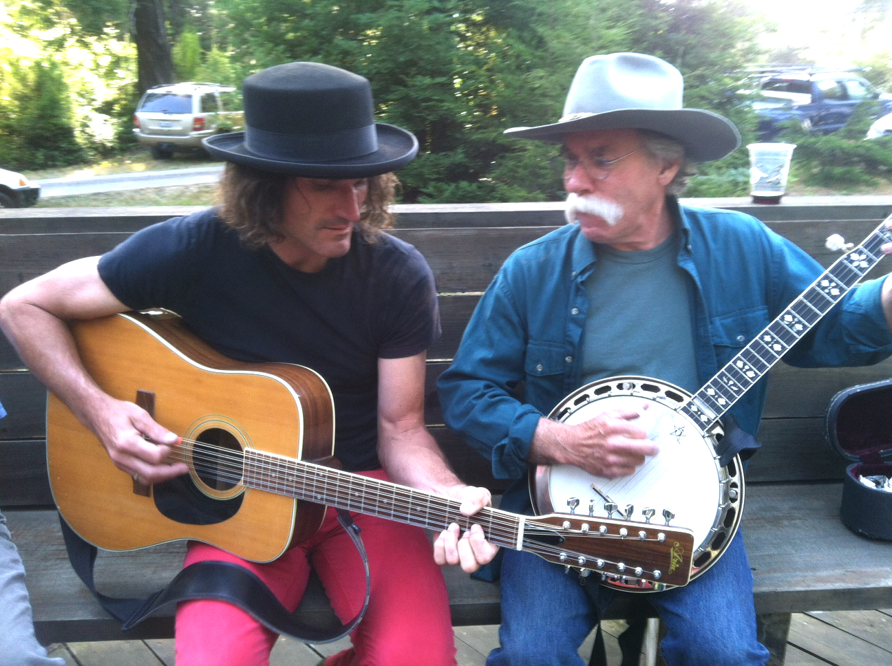 Steven Bates and Gene Parsons