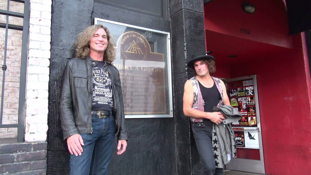 Jeffrey Walsh and Steven Bates outside the Whisky A Go Go on Sunset Blvd., Los Angeles CA 2013