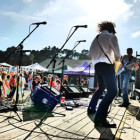 Playing at the Worlds Largest Salmon BBQ July 2014. Photo gallery courtesy of Petra Annastasia. Thanks, Petra!