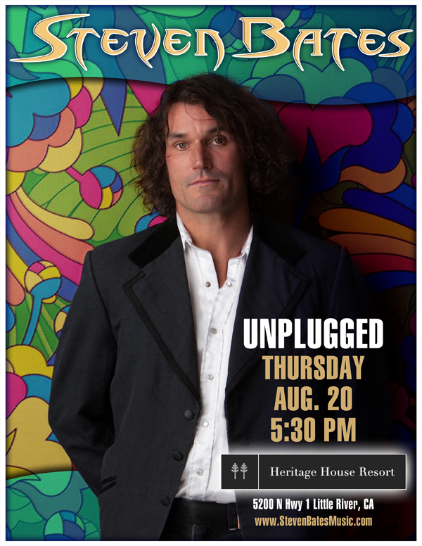 Steven Bates Unplugged at Heritage House 8-20-15 Poster