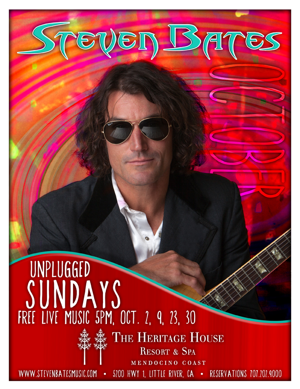 Steven Bates playing unplugged at Heritage House Sundays in October